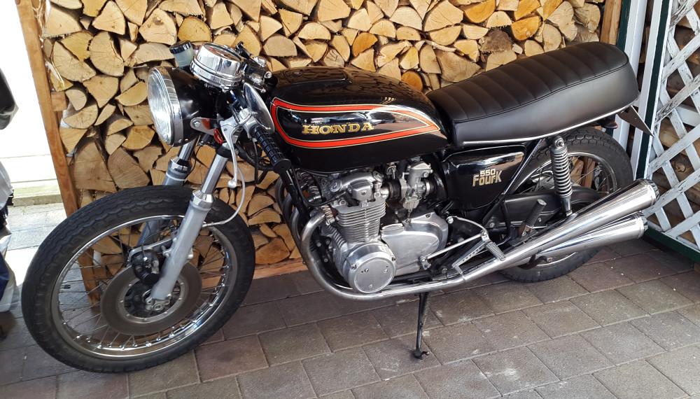 Raask Fußrastenanlage Honda CB 550 K3 Cafe Racer