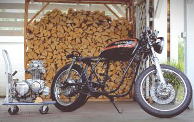 Rahmendreieck + Ausbau Motor Honda CB 550 K3 Cafe Racer