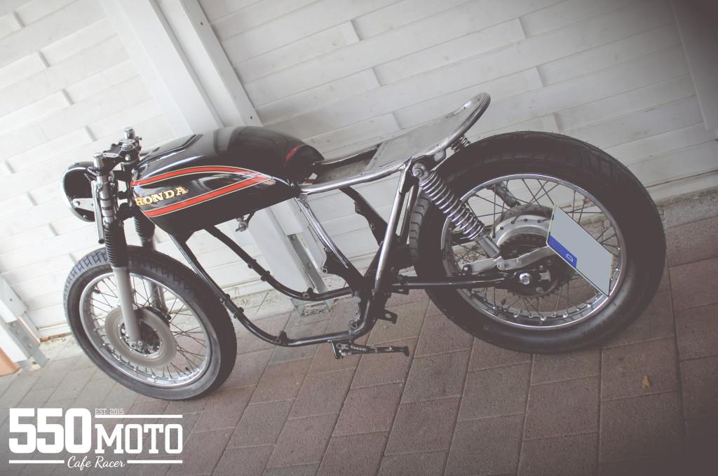 Honda CB 550 K3 Cafe Racer Rahmen Cutted Frame Loop