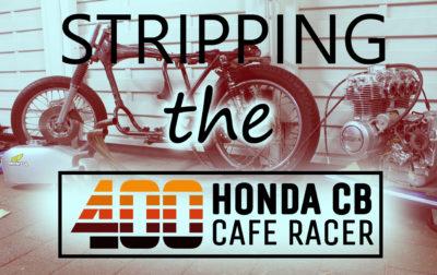 Zerlgen der Honda CB 400 four_ Cafe Racer_ by 550moto
