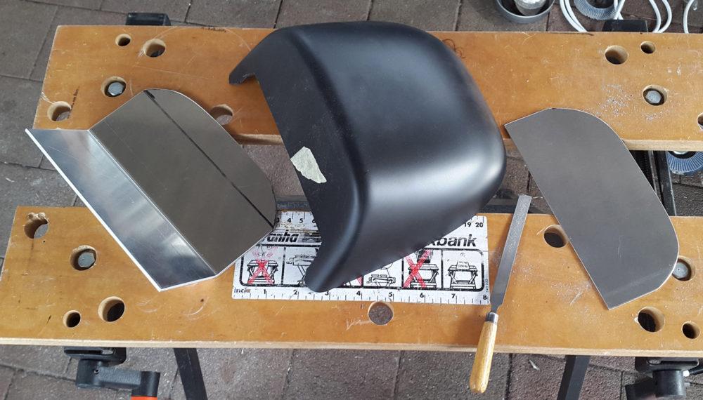 Honda CB 400 four Cafe Racer Sitzbank Höcker 7 by 550moto