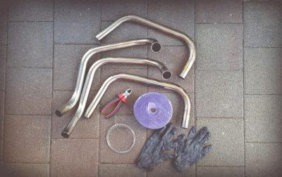 Hitzeschutzband Honda CB 550 Cafe Racer by 550motoBeitrag