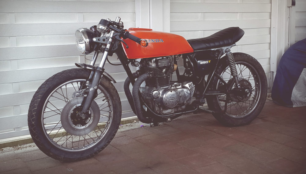 Honda CJ 250 t Cafe Racer by 550moto