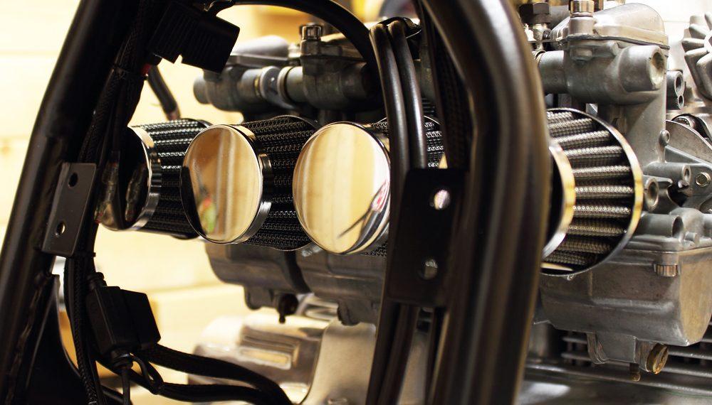 Honda CB 400 four offene Luftfilter Cafe Racer