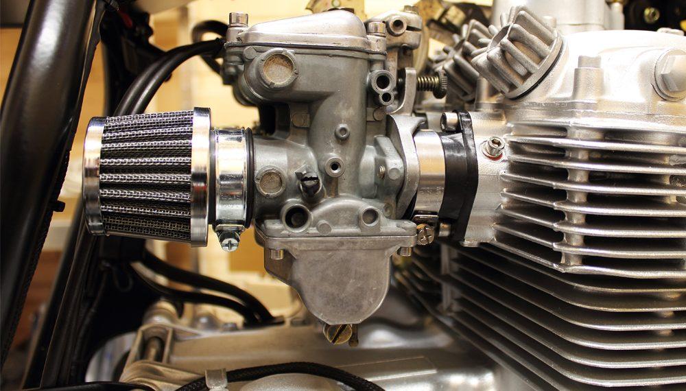 Honda CB 400 four offene Luftfilter Vergaser Cafe Racer