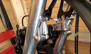Honda CB 550 Bremssattel Umbau 2. Bremsscheibe Cafe Racer 550Moto