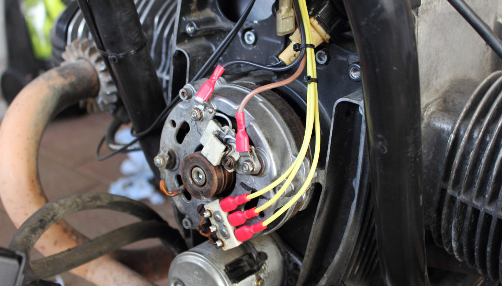 BMW R100RT Cafe Racer Lichtmaschine ESR 450