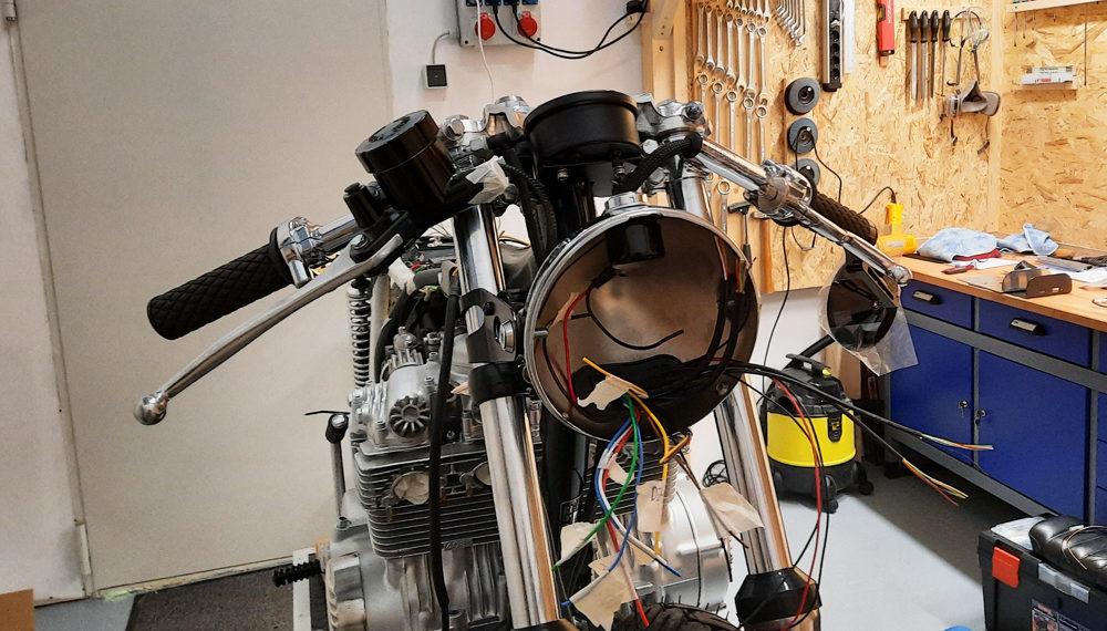 Honda CB 400 four Scheinwerfer Kabelbaum