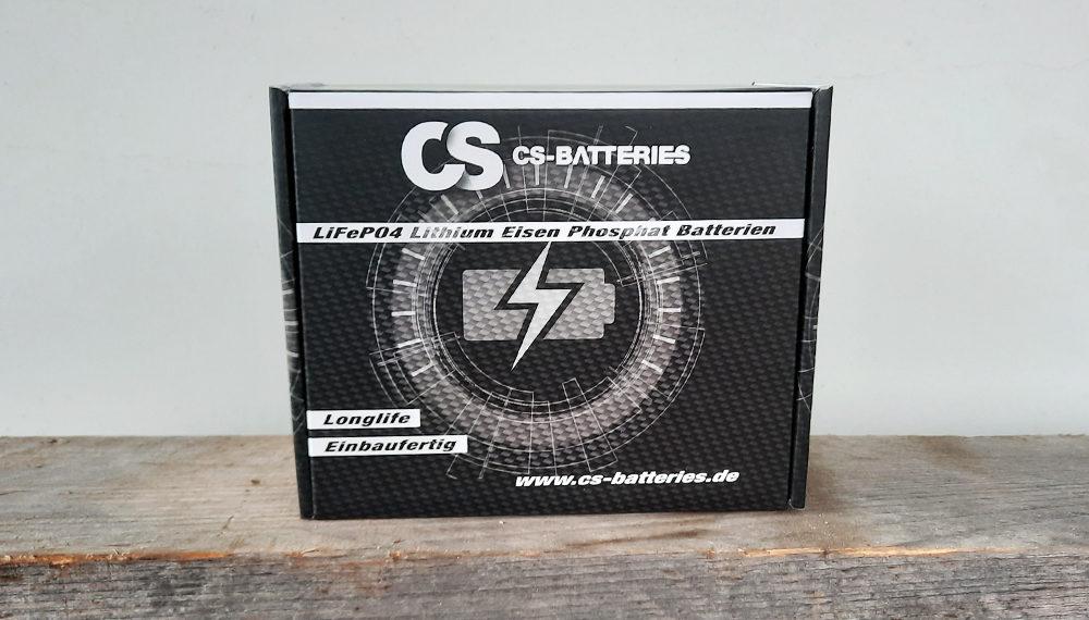 Laderegler Gleichrichter LiFePo4 Batterie CS Batteries Cafe Racer Honda CB 550 250 400 Verpackung
